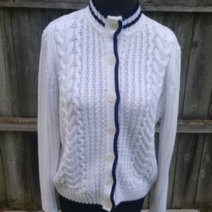 ❄BROOKS BROTHERS 346 CABLE KNIT CARDIGAN